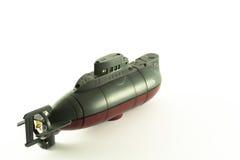 控制了他的推进器收音机潜水艇 图库摄影