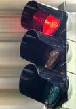 控制交通的红绿灯 免版税库存照片