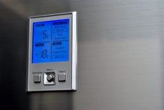 控制冰箱面板 免版税库存照片