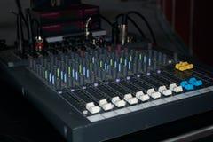 控制台数字式混合的声音 库存照片