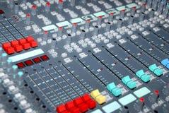 控制台混合的声音 免版税图库摄影