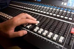控制台混合的声音 库存照片