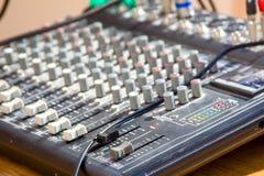 控制台混合的声音 免版税库存图片