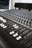 控制台混合的录音室 免版税库存图片