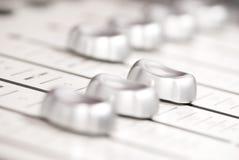 控制台混合的银 免版税库存照片