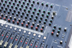控制台电子搅拌机音乐声音技术 库存照片