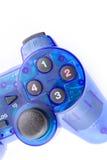 控制器戏剧电子游戏的蓝色控制杆 库存图片
