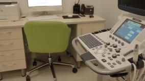 控制女性超声波诊断的Pannel 股票录像
