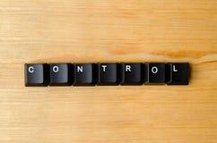 控制字 免版税图库摄影