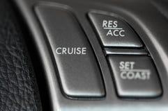 控制巡航方向盘 免版税图库摄影