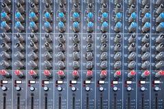 控制搅拌机面板声音 库存照片