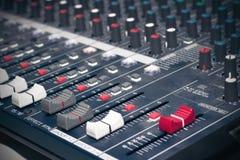 控制数据设备数字输入设备管理面板工具 库存照片