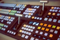 控制板在演播室 免版税库存图片