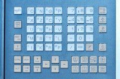 控制板工业键盘按钮开关  免版税库存图片