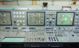 控制板核能发动的破冰船的片段 库存图片