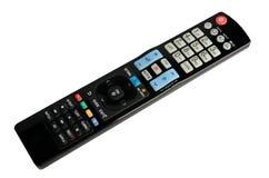 控制查出的远程电视白色 免版税库存图片