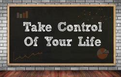 控制生活采取您 图库摄影