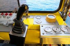 控制的控制板机器 接通盘区并且由用户控制 作用紧急状态和操作 免版税库存照片