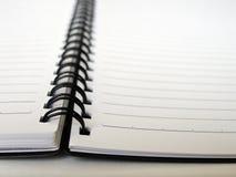 控制的笔记本开放环形 图库摄影