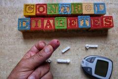 控制糖尿病概念 库存照片