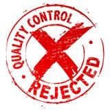 控制被拒绝的质量 向量例证