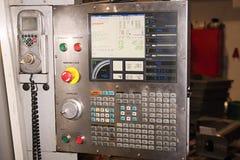 控制设备可编程序监控程序的面板 免版税库存照片