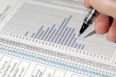 控制质量报表 免版税库存图片