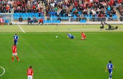 控制足球违反 免版税库存图片