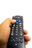 控制远程电视 免版税库存图片