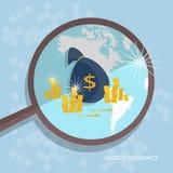 控制金钱概念美国资助企业财务 库存例证