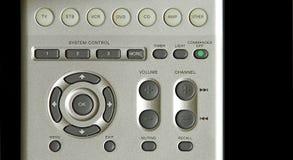 控制面板遥控电视 免版税库存照片