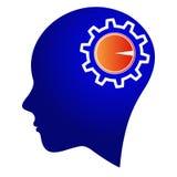 控制齿轮头脑 库存例证