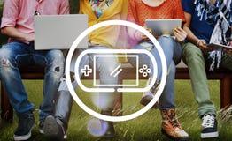 控制Joypad赌博概念的电子游戏 免版税库存照片