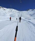 推力滑雪 免版税图库摄影