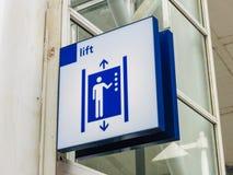 推力/电梯标志 库存照片