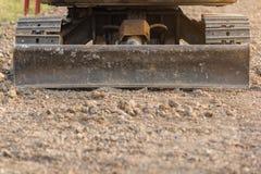 推土机或连续的被跟踪的拖拉机 免版税图库摄影