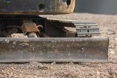 推土机或连续的被跟踪的拖拉机 库存图片