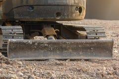 推土机或连续的被跟踪的拖拉机 免版税库存图片