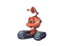 推土机机器人 皇族释放例证