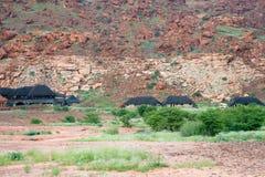 推菲尔泉国家小屋, Damaraland,推菲尔泉,纳米比亚 库存照片