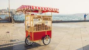 推车自动贩卖机在伊斯坦布尔 库存照片
