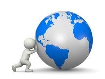 推进世界 免版税库存照片
