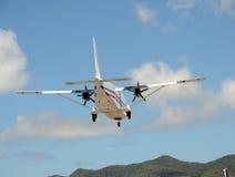推进器飞机背面图 免版税库存照片