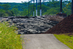 推进的熔岩 免版税库存照片