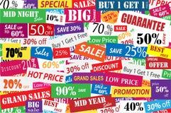 推销活动和大折扣在企业概念 库存图片