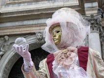 掩没和水晶球,威尼斯狂欢节 免版税库存照片