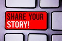 措辞文字文本份额您的故事诱导电话 经验乡情记忆个人白色文本两wor的企业概念 库存照片