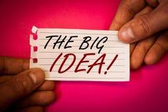 措辞文字文本大想法诱导电话 企业概念为有一个成功的想法聪明认为 免版税库存图片