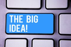措辞文字文本大想法诱导电话 企业概念为有一个成功的想法聪明认为 免版税库存照片