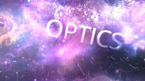 措辞电,磁性,光学 抽象背景,抽象矩阵喜欢背景 在外层空间的星际 免版税库存照片